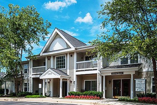 Acclaim at Ashburn exterior with trees